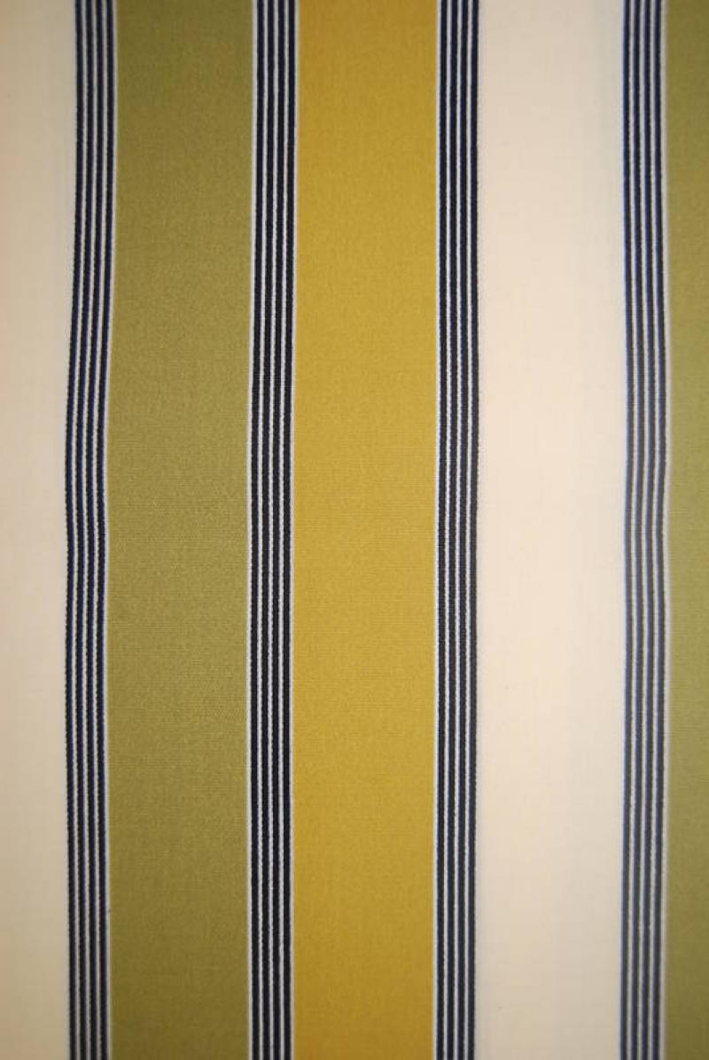 Classic Stripe Olive Gold Stripe Sun Neutral Soft Outdoor Fabric S123