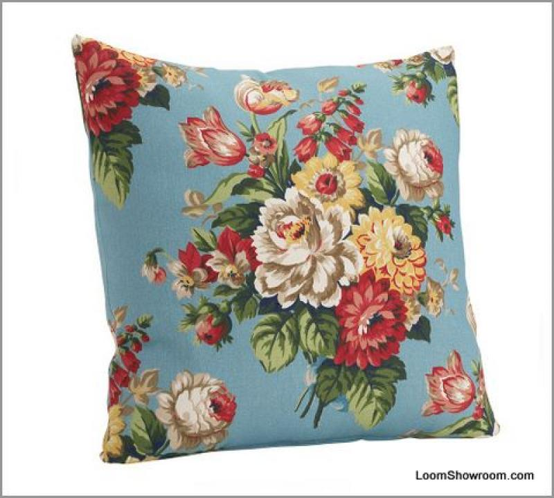 Pillow Panel DIY Pottery Barn  Peony Floral Pillow Fabric Panel Outdoor Fabric - Fabric only  S321