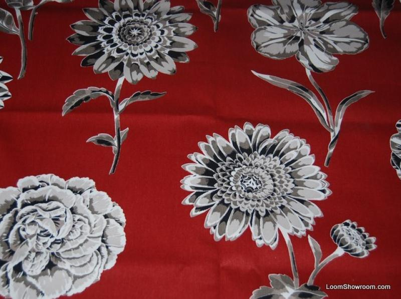 Floral Jolie Large Scale Floral Mid Century Scandinavian Modern Style Heavy Bold Fabric s342