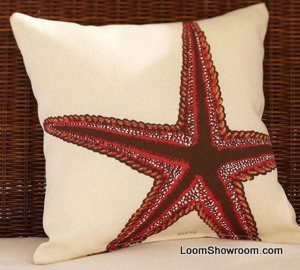 Pillow Panel DIY Sealife Sea Life Star Fish Shell Indoor Outdoor Fabric Acrylic Panel s350
