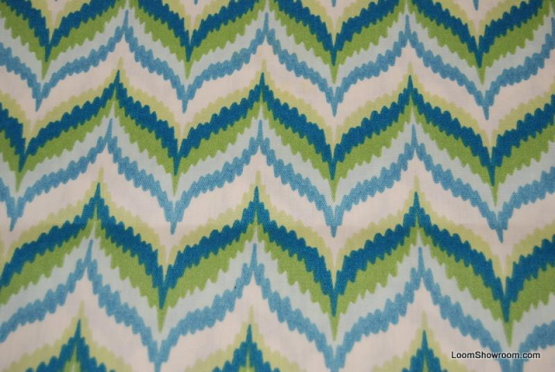 Chevron Retro Modern Zig Zag Green Turquoise and White Famous ...