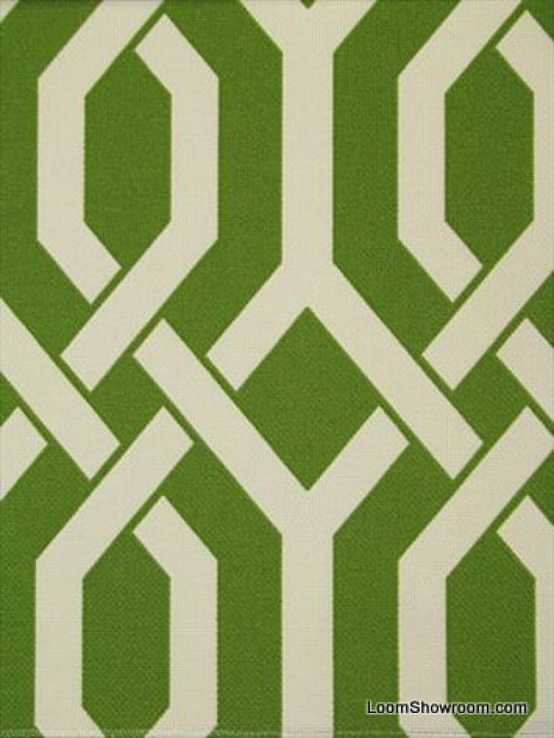 Lattice Modern Geometric Adler Style Famous Maker Soft Thick Acrylic Outdoor Fabric Barkcloth Texture PERFECT Lime Green S581