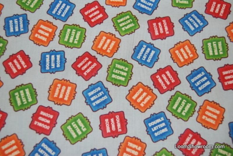 T250 Scrabble Word Letter Score Scrabble Game Hasbro Letter Tiles Cotton Fabric Quilt Fabric