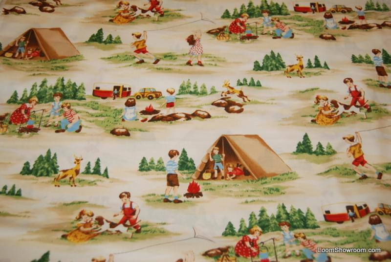 Dick and jane quilt fabric