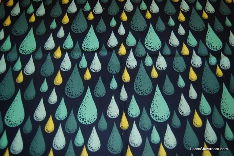 T384 Prince Charming AWESOME Rain Drop Water Drop Retro Bold Graphic Cotton Fabric Quilt Fabric
