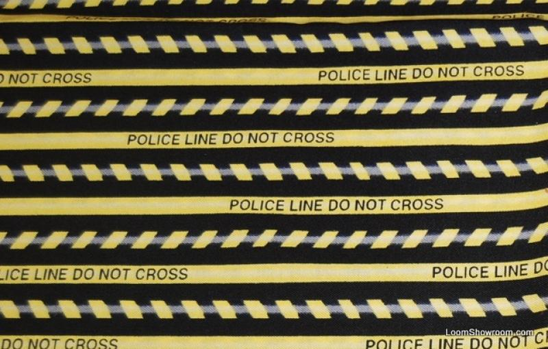 Police Line Do Not Cross CSI Crime Scene Tape Cotton Fabric Quilt Fabric T69