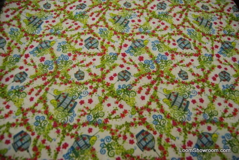TZ105 Vintage Bird Cage Paris Style Retro Print Cotton Fabric Quilt Fabric