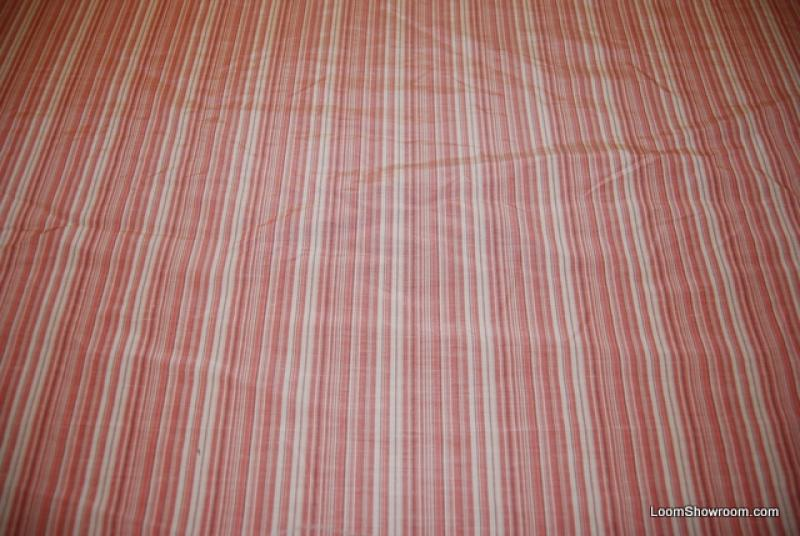 WB54 Brunschwig & Fils Pink Stripe Heavy Weight Silk Taffeta Drapery Fabric Silk Fabric