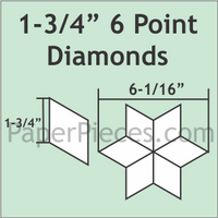 1 3/4 6 Point Diamonds Small Pack 50 Pieces