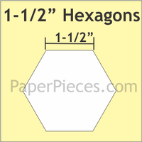 1-1/2 Hexagons: Small Pack 50 Pieces