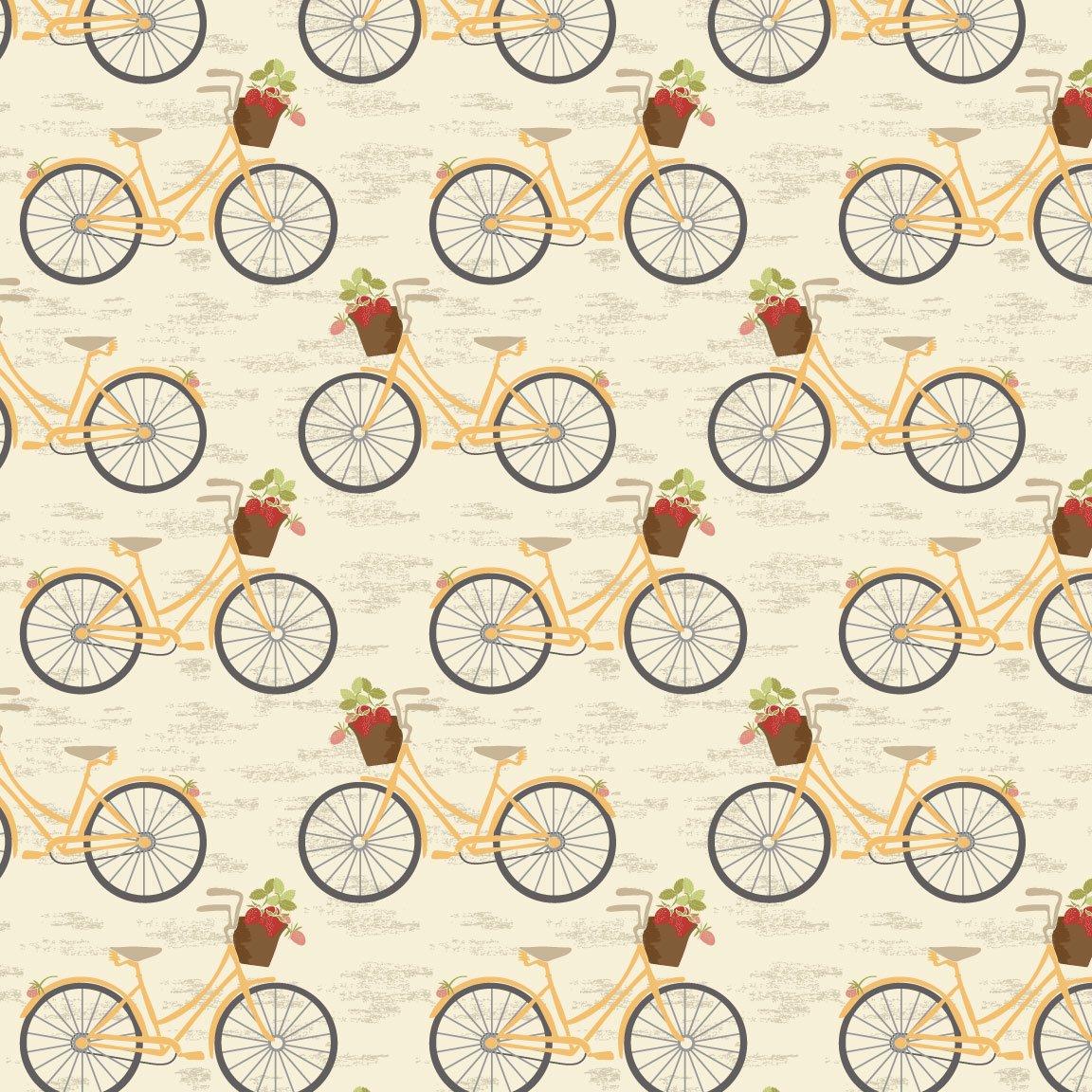 Vintage Berries Bicycle on Cream 16102-1CR