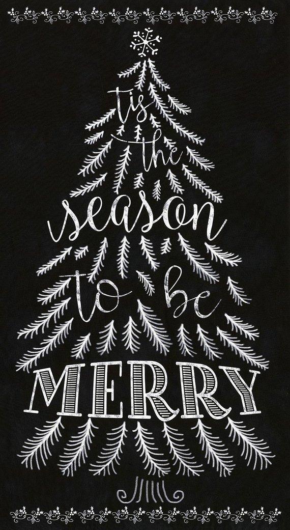 Tis the Season to be Merry Chalkboard Panel