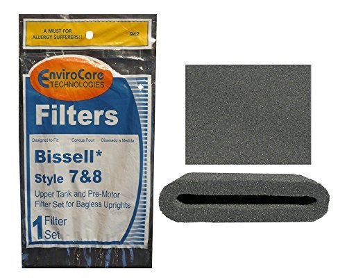 Bissell Style 7 & 8 Upper Tank and Pre-Motor Filter Set