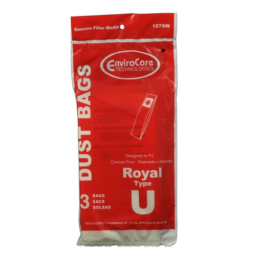 Dirt Devil Type U Vacuum Bags - 3 pack