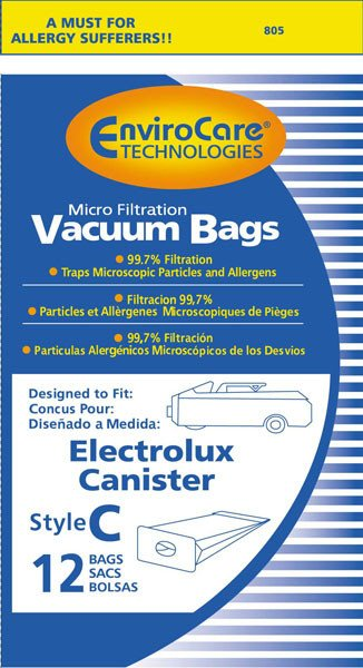 Electrolux Style C Vacuum Bags - 12 pack
