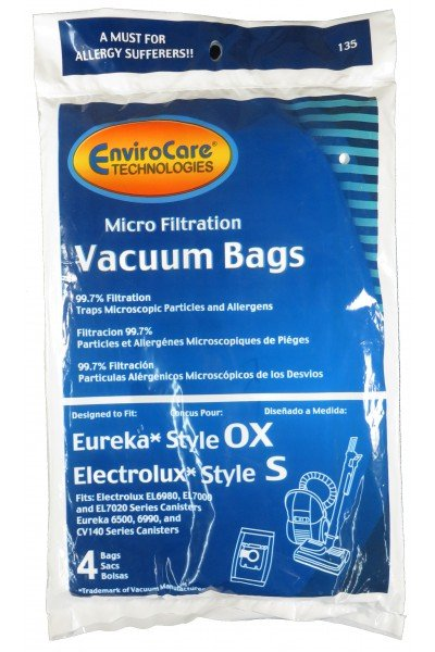 Eureka Style OX/Electrolux Style S Vacuum Bags - 4 pack