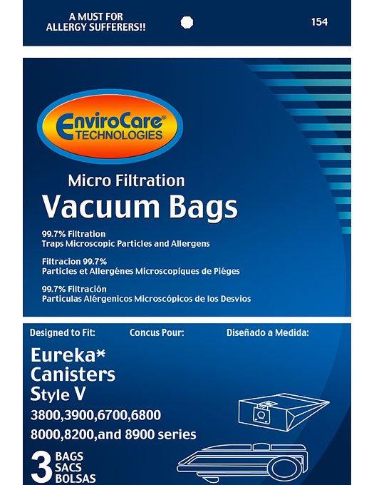 Eureka Style V Vacuum Bags - 3 pack