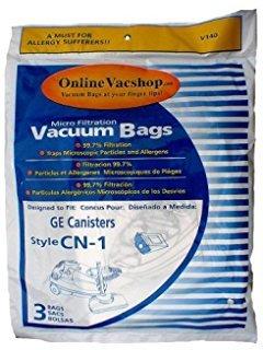 GE Type CN-1 Vacuum Bag - 3 pack