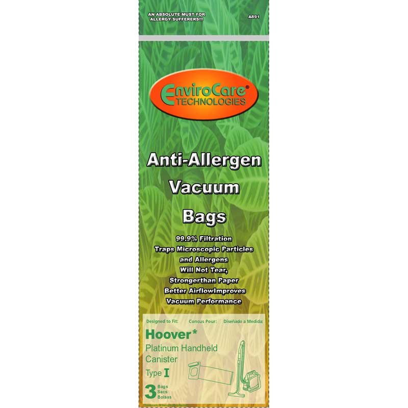 Hoover Type I Anti-Allergen Vacuum Bags - 3 pack
