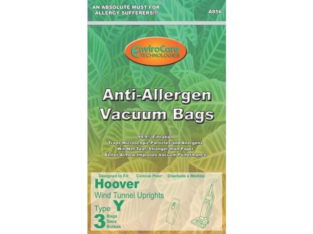 Hoover Type Y Anti-Allergen Vacuum Bags - 3 pack
