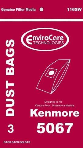 Kenmore Type 5067 Vacuum Bags - 3 pack