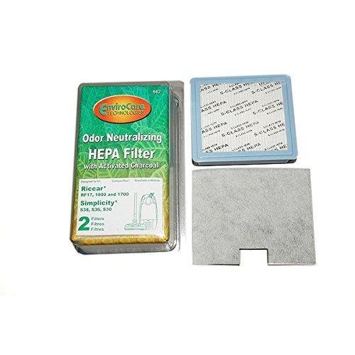 Riccar 1500 & 1800 Series and Simplicity S Series HEPA Filter