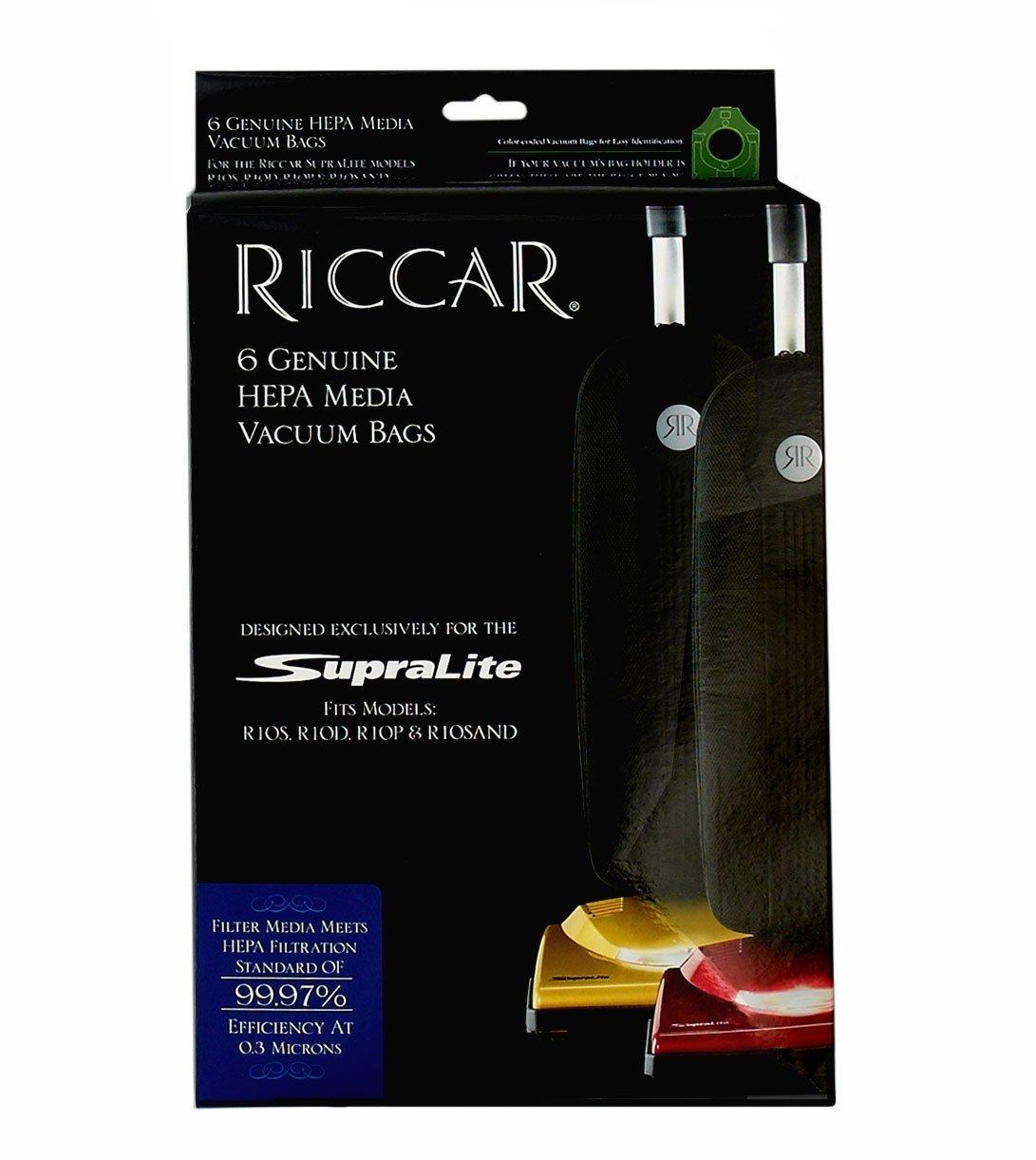 Riccar Genuine  Supralite Vacuum Bags - 6 pack