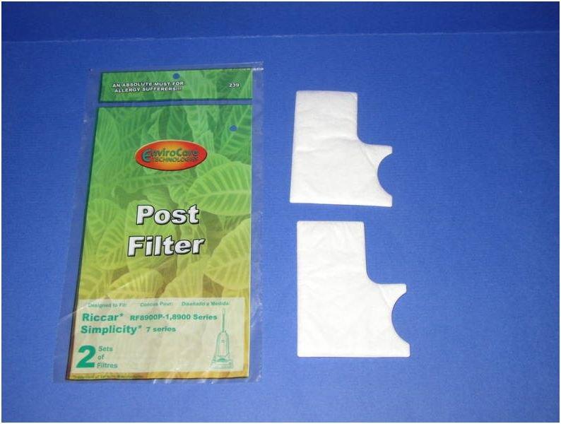 Riccar RFP8900P-1, 8900 Series and Simplicity 7 Series Post Filter Set - 2 pack