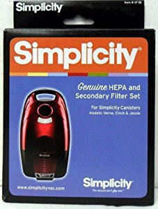 Simplicity Genuine SF-I8 HEPA Filter and Secondary Filter Set