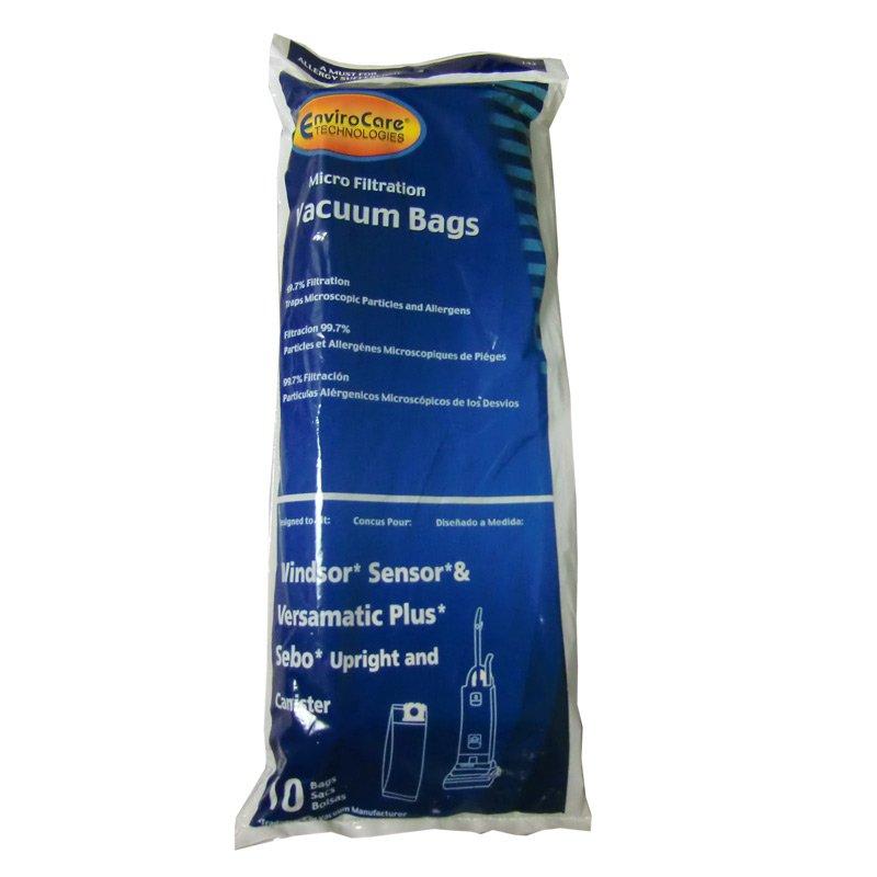 Windsor Sensor and Versamatic Plus Vacuum Bags - 10 pack
