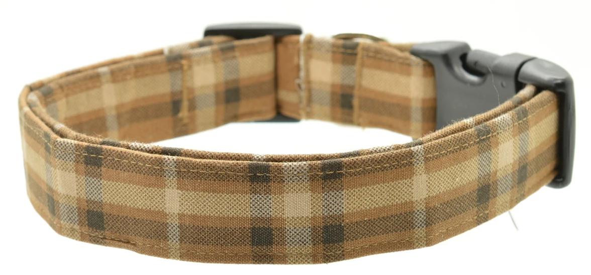 Dog Collar World - Brown Plaid