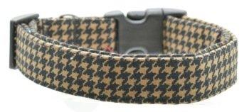 Dog Collar World - Brown Houndstooth