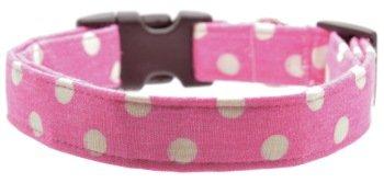 Dog Collar World - Pink Polka Dot