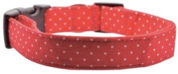 Dog Collar World - Red Pin Dot