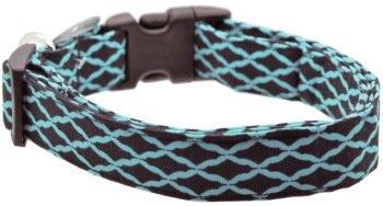 Dog Collar World - Turquoise Black Quat