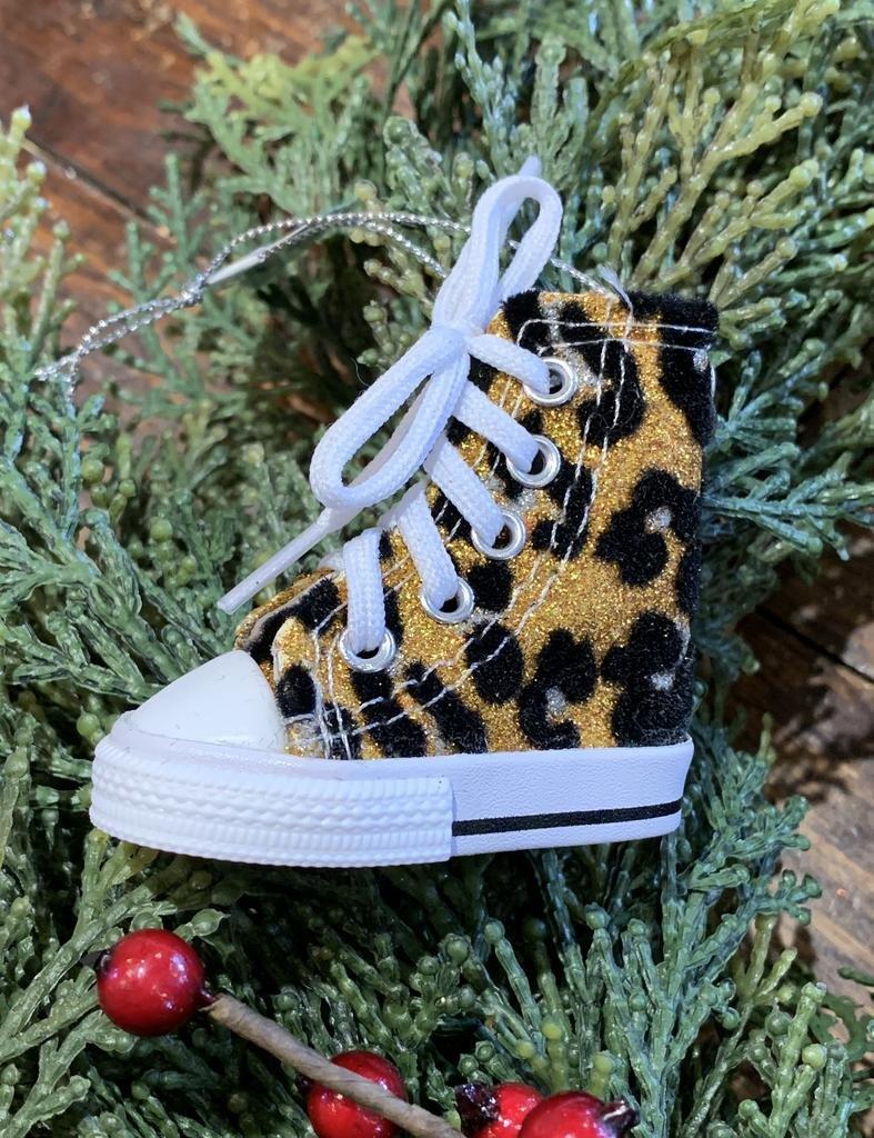 Kurt Adler Fuzzy Animal Print Sneaker