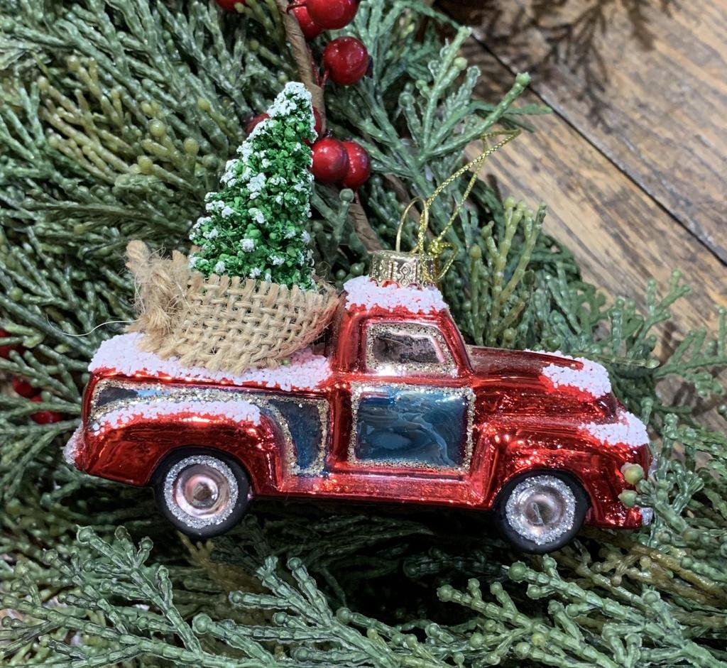 GLASS TRUCK WITH TREE