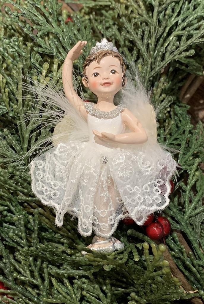 Kurt Adler Silver Little Ballet