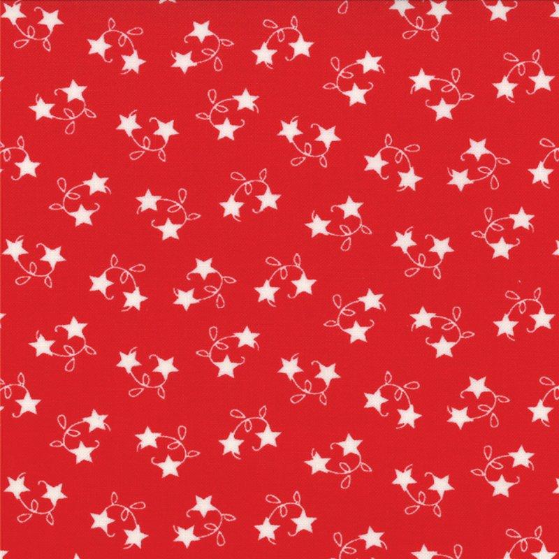 Winter Wonderland  - Tossed Stars -  Redwork  #2874 18