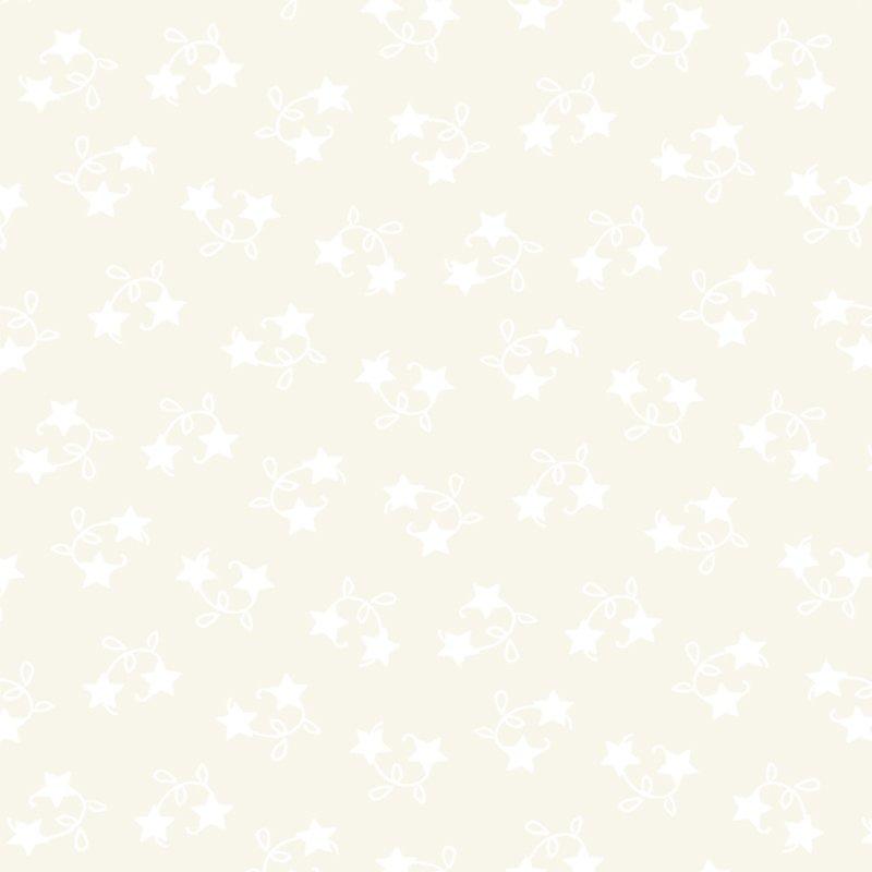Winter Wonderland  - Tossed Stars - White on White  #2874 20