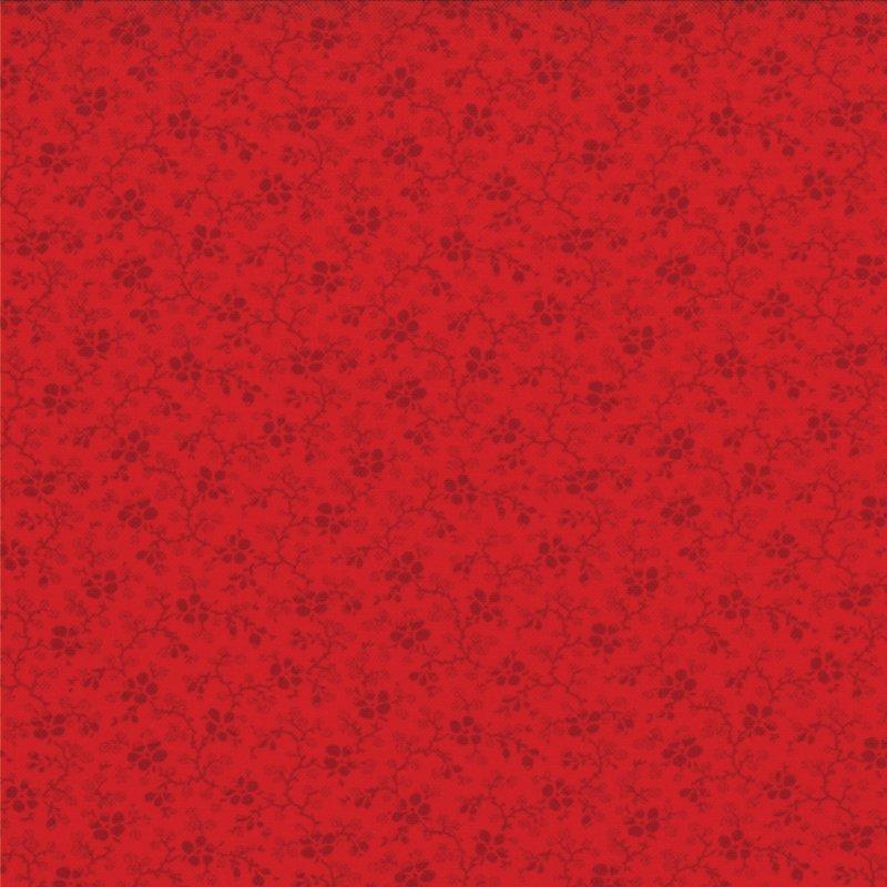 Winter Wonderland  - Posies -  Tonal Redwork  #2875 15