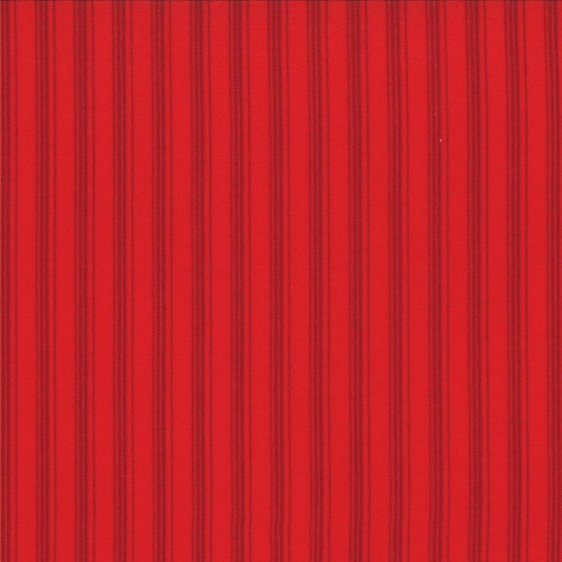 Winter Wonderland  - Stripes - Tonal Redwork - #2877 16