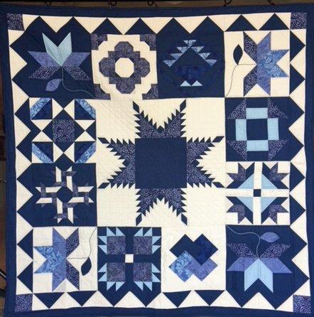 Sampler in Blue Quilt Kit