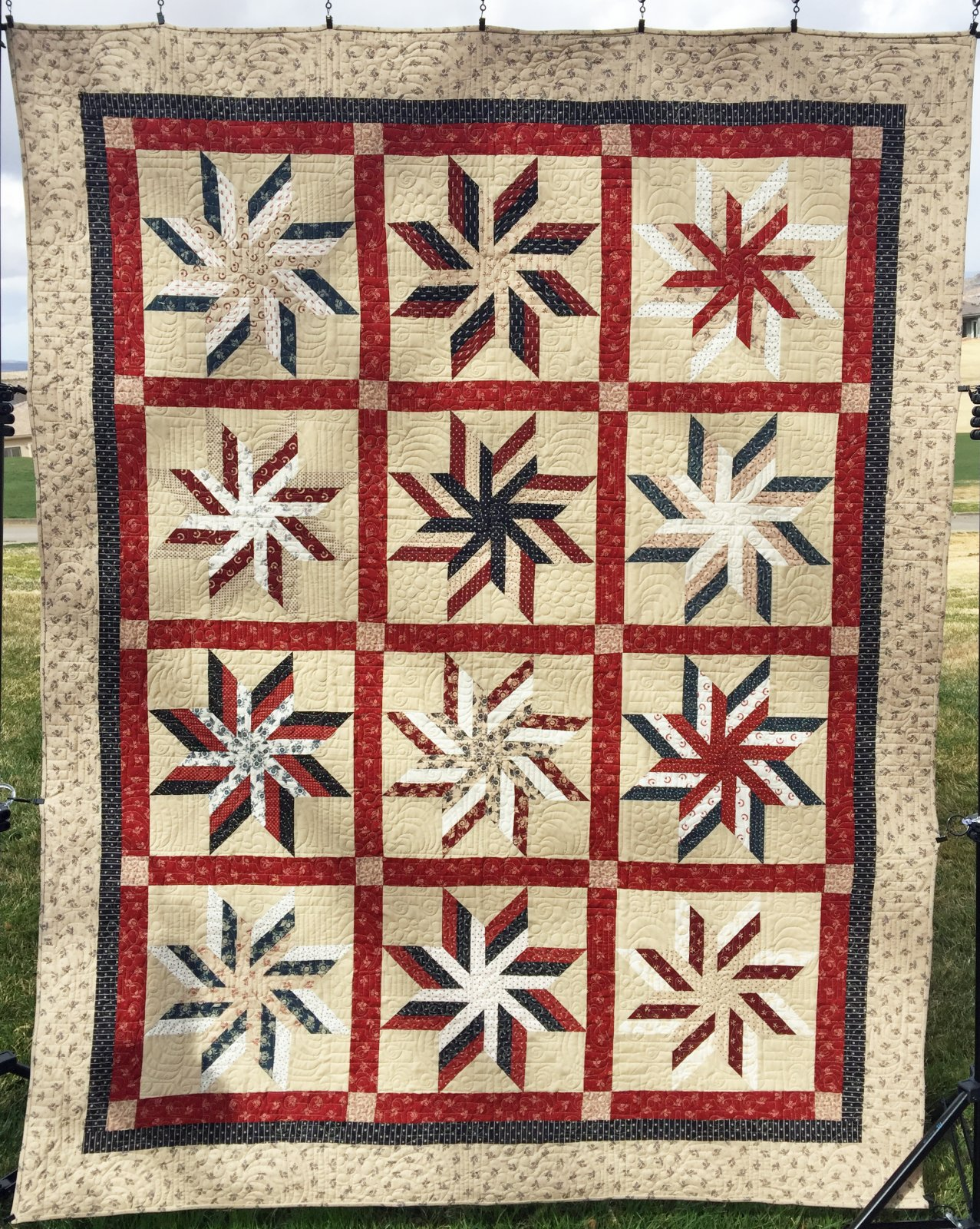 Sweet Liberty Swirls Quilt Kit