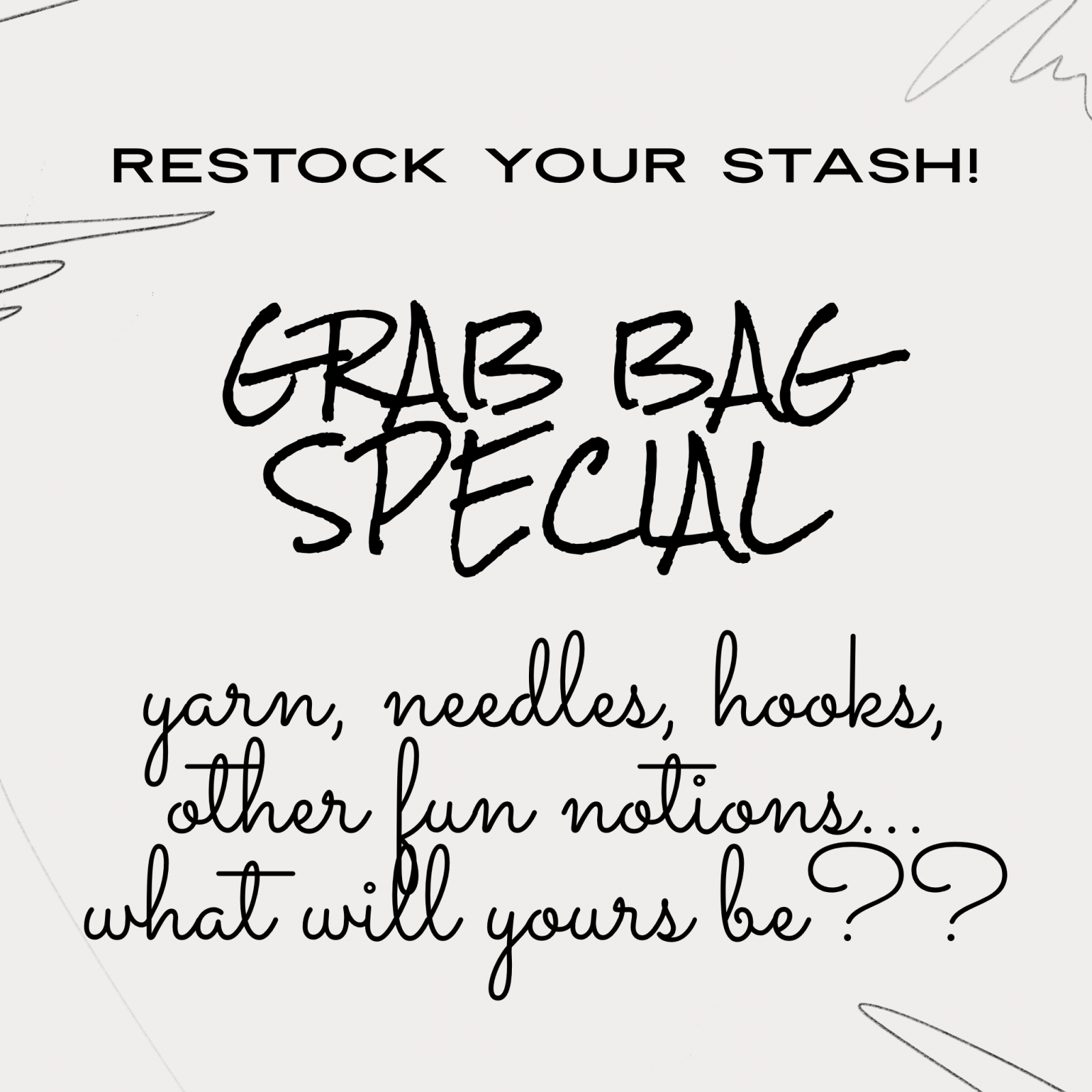 Restock Your Stash Grab Bag