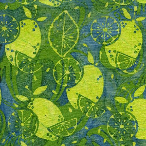 111703640 Chameleon  Lemons  Island Batiks