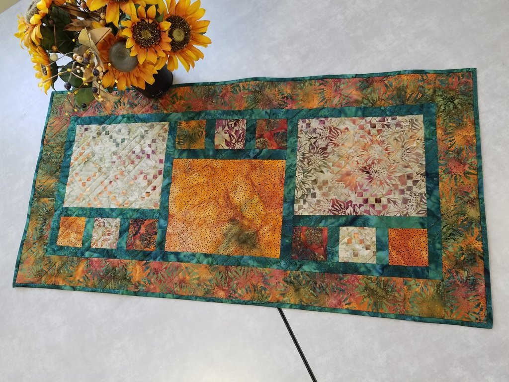 Divided by 3 Fall Batik Table Runner Kit