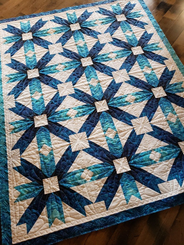 Bohemian Stars Quilt Kit Blue