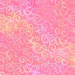 108 Wide Pink Ombre Scroll Wide Backing