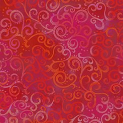 24174 R Cherrry Red Ombre Scroll